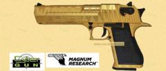 DESERT EAGLE TIGER STRIPE  (GOLD)  GBB  CYBERGUN